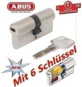 ABUS EC550 Profil-Doppelzylinder Länge 30/30mm mit 6 Schlüssel - 1