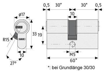 ABUS Profil-Zylinder D6XNP 30/35 mit Codekarte und 5 Schlüsseln, 48298 - 3