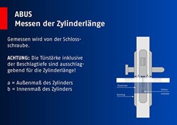 ABUS Profil-Zylinder D6XNP 30/35 mit Codekarte und 5 Schlüsseln, 48298 - 5