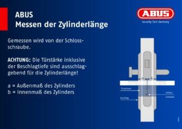 ABUS Profil-Zylinder K82N 30/30 mit Knauf 00503 - 3