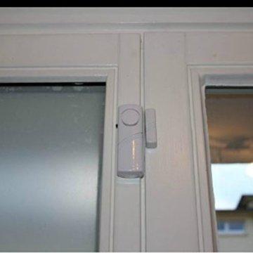 Eurosell 3 Stück Fenster / Tür Alarm Sensor + Sirene - Einbruch Diebstahl Schutz ! Türalarm / Fensteralarm FUNK Alarmanlage Alarm Alarmsystem - 4