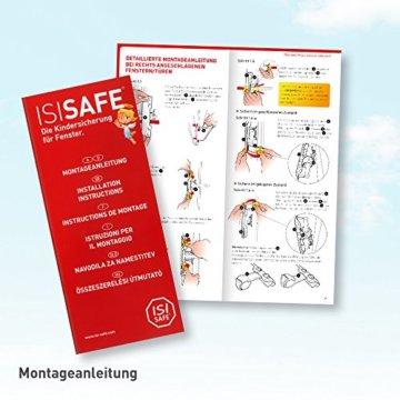 ISI SAFE - die Kindersicherung für Fenster - ohne Bohren! - 6