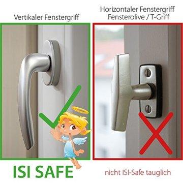 ISI SAFE - die Kindersicherung für Fenster - ohne Bohren! - 7
