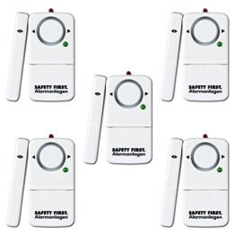 kh security Fensteralarm, 5er Set, weiß, 100158set5 - 1