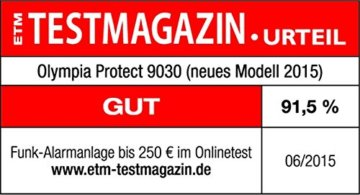 Olympia Protect 9061 Sicherheit Plus Alarmanlage Testergebnis