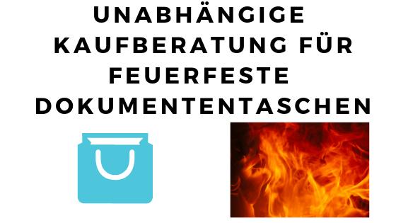 feuerfeste dokumententasche test bild
